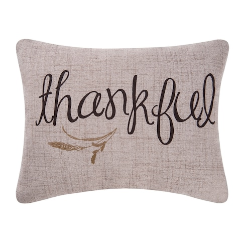 Thankful Printed 12x15 Throw Decorative Accent Throw Pillow