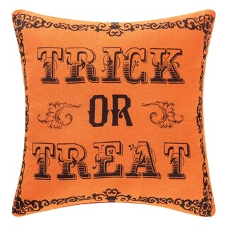 Goth Trick Or Treat Printed / Embroidered 10x10 Throw Pillow