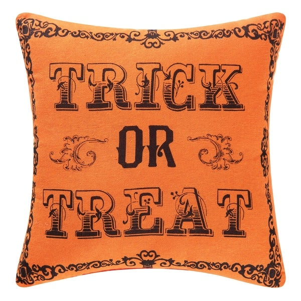 Shop Goth Trick Or Treat Printed Embroidered 40x40 Throw Pillow Fascinating 10x10 Decorative Pillows