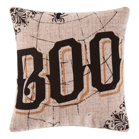 Goth Boo Printed / Embroidered 10x10 Throw Decorative Accent Throw Pillow