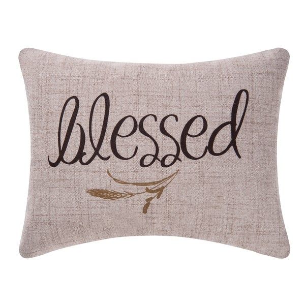 Blessed Printed 12x15 Throw Pillow