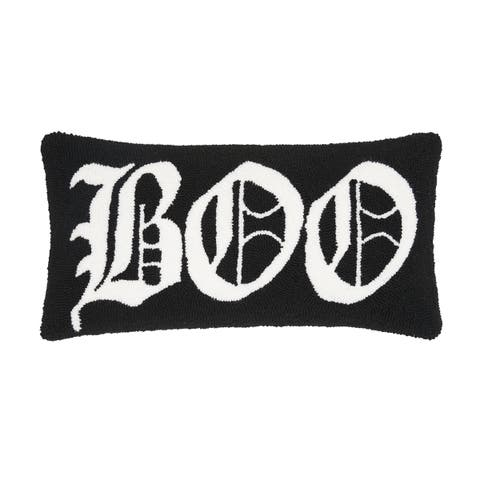 Boo Hooked 12x24 Throw Pillow