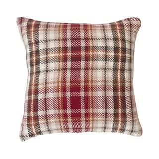 Samuel Plaid Woven 18 Inch Throw Pillow