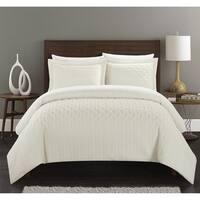 Chic Home Jas 7 Piece Vine Pattern Bed in a Bag Comforter Set - Beige