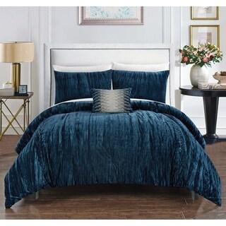 Chic Home Kerk 8 Piece Crushed Velvet Bed in a Bag Comforter Set