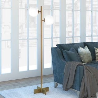 Twee Globe & Stem Floor Lamp (Optional finishes)