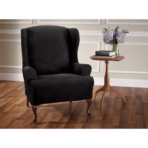 Stretch Sensations Shapely Diamond Wing Chair Slipcover - wing chair - wing chair