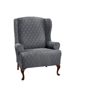 Stretch Sensations Stretch Ogee Wing Chair Slipcover - wing chair
