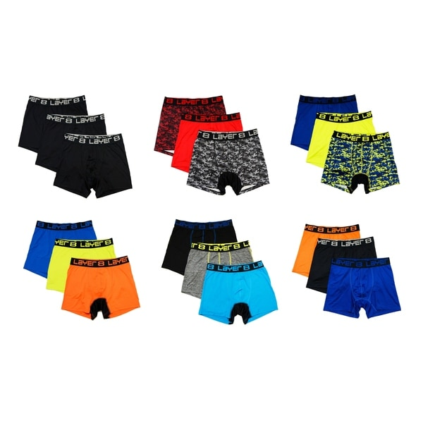 267e75bc9fb8 Shop Layer 8 Men's 3 Pack Performance Sports Boxer Briefs - Free ...