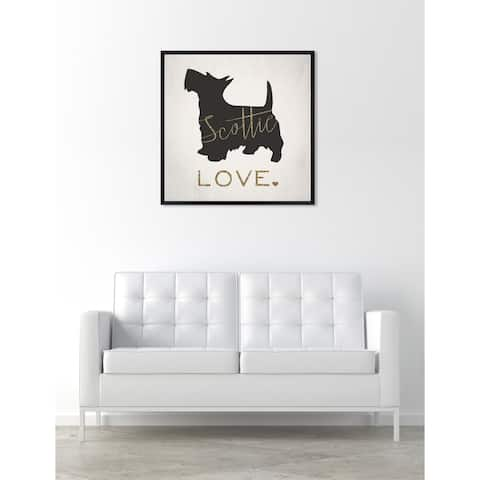 Oliver Gal 'Scottie' Dogs and Puppies Framed Art Print