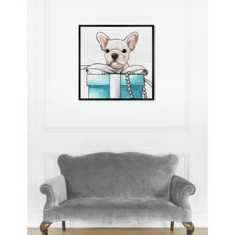 Oliver Gal 'Fancy Jewel Puppy' Dogs and Puppies Framed Art Print