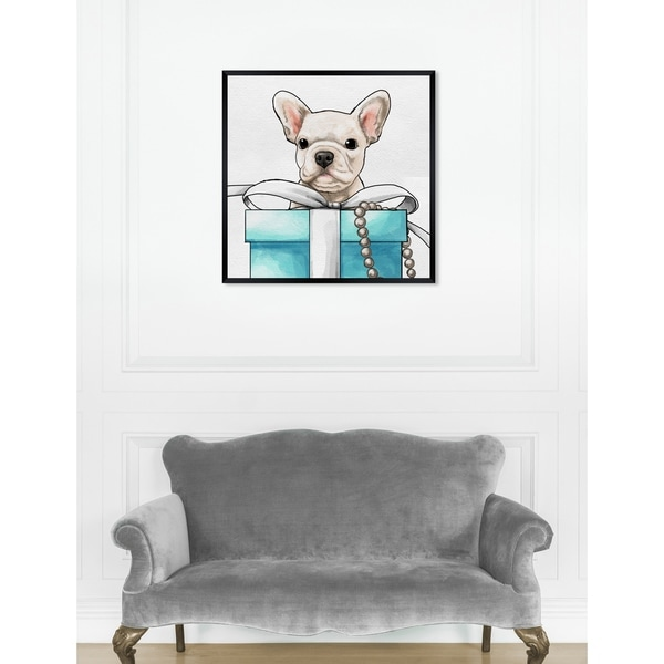 Oliver Gal 'Fancy Jewel Puppy' Dogs and Puppies Framed Art Print. Opens flyout.