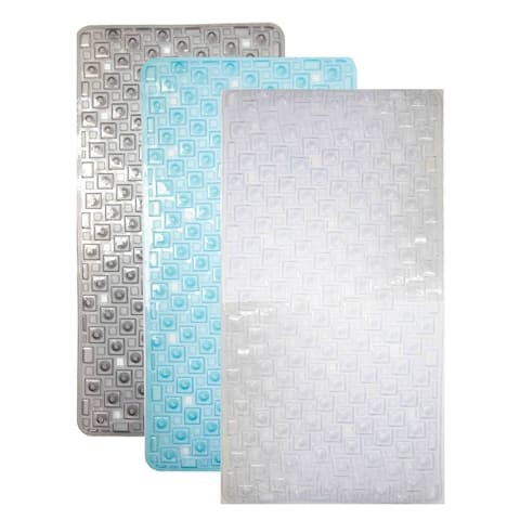 Home Basics PVC Transparent Bath Mat - 15 x 29.5