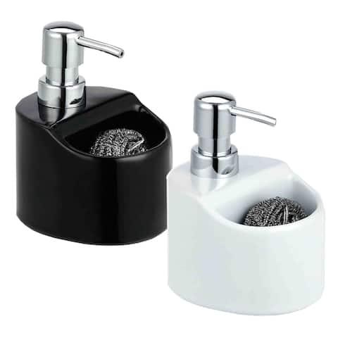 Home Basics Soap Dispenser with Sponge Holder