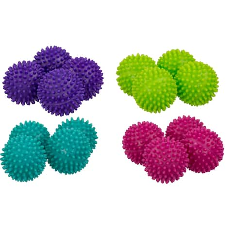 Sunbeam Brights Collection Dryer Balls (Pack of 4) - Blue/Pink/Purple