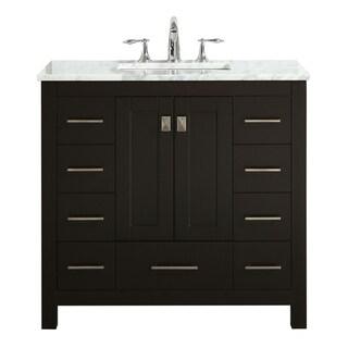 "Eviva Hampton 36"" Espresso Bathroom Vanity"