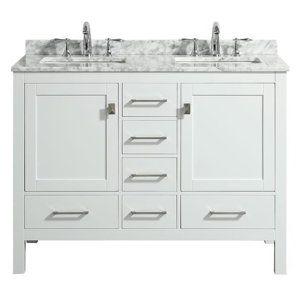 Eviva London 48 X 18 White Bathroom Vanity