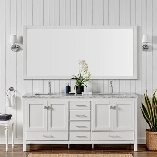 "Eviva London 60"" X 18""  White bathroom vanity"