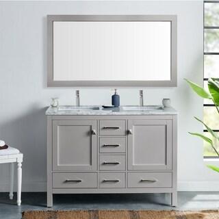 "Eviva London 48"" X 18""  Gray bathroom vanity"