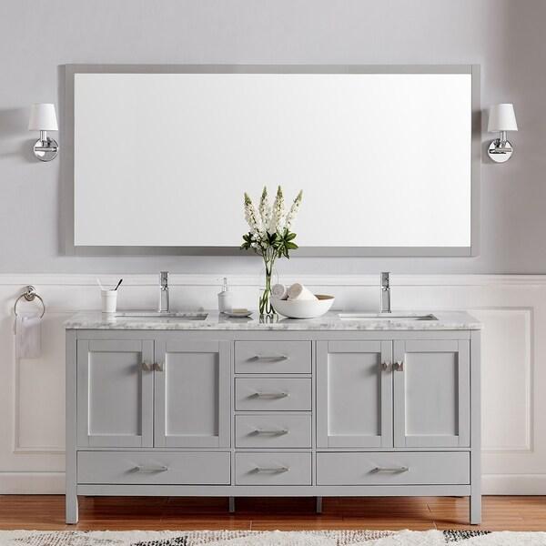 "Eviva London 60"" X 18"" Gray bathroom vanity"
