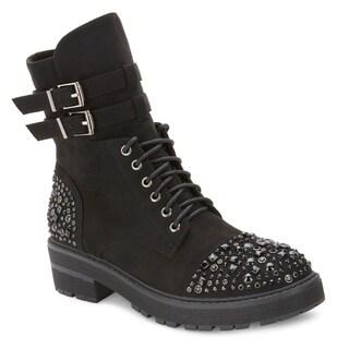 Olivia Miller 'Thorne' Multi Studded Combat Boots