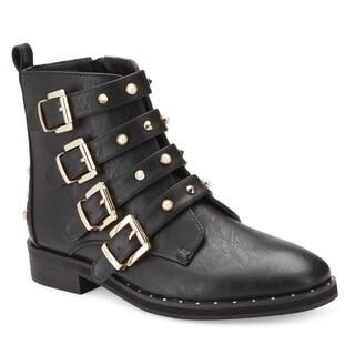 Olivia Miller 'Larsen' Multi Buckle Strap Boots
