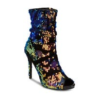Olivia Miller 'Golovin' Multi Color Sequin Booties