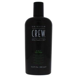 American Crew Men's 15.2-ounce 3-in-1 Tea Tree Shampoo, Conditioner & Body Wash