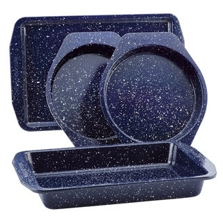 Link to Paula Deen Nonstick Speckled 4pc Bakeware Set, Deep Sea Blue Speckle Similar Items in Bakeware