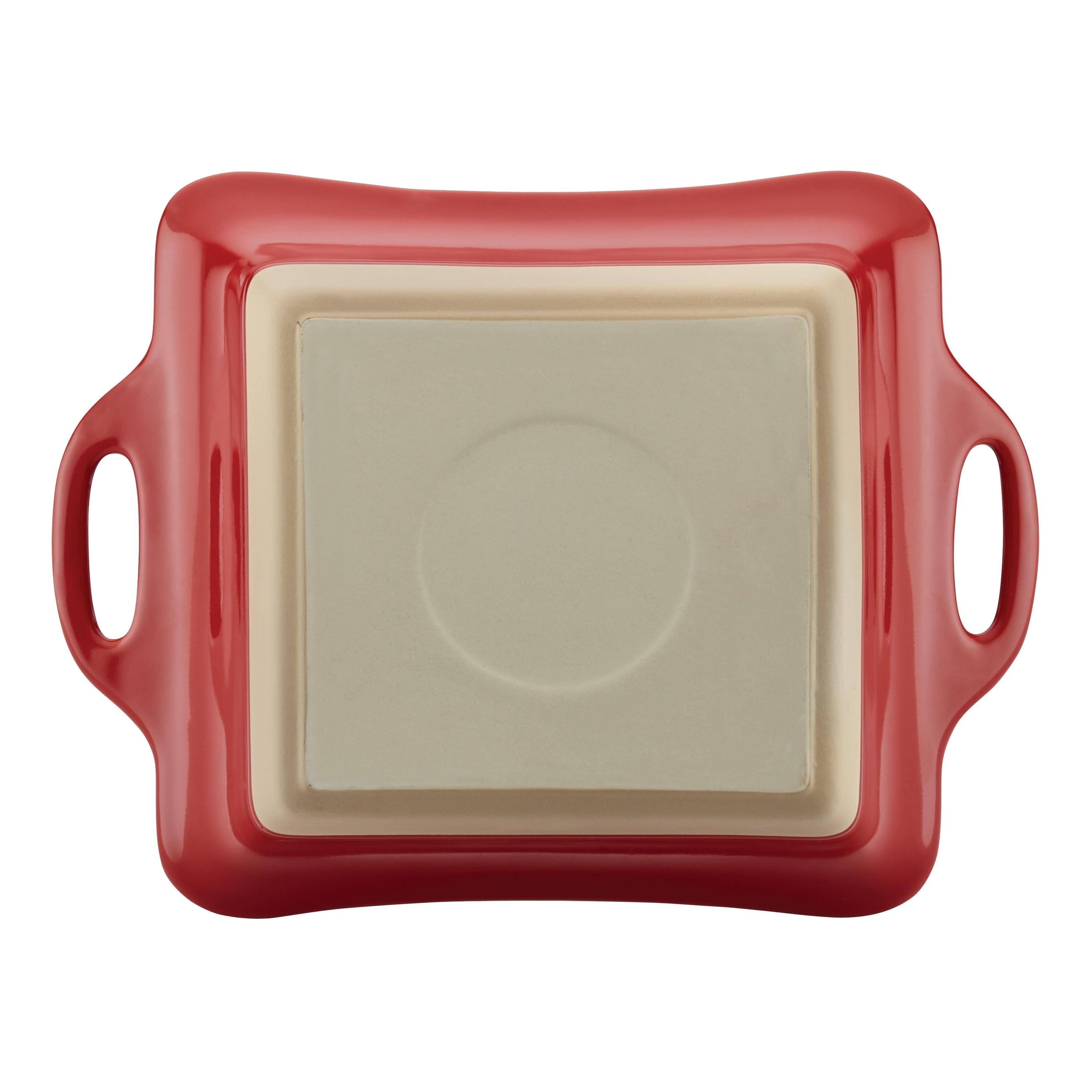 Rachael Ray Ceramics 2.5-Quart Casserole Pan with Lid Cherry