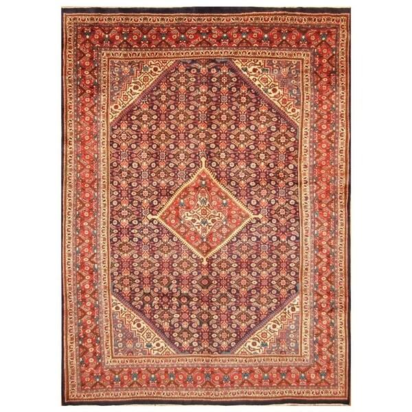 Shop Handmade Herat Oriental Persian Hand Knotted Mahal Wool Rug 9