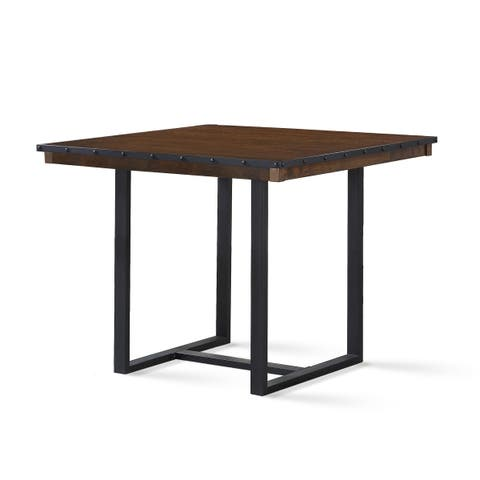 LaSalle 46-Inch Square Counter Height Dining Table by Greyson Living - Chestnut