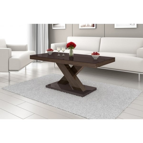 Coffee Table Legs Brown: Shop XENON Coffee Table (Top Brown/Legs OAK Faro)