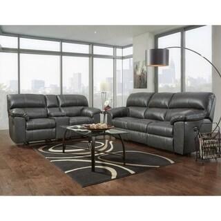 SofaTrendz Cedar Charcoal Reclining Power Sofa & Console Loveseat Set