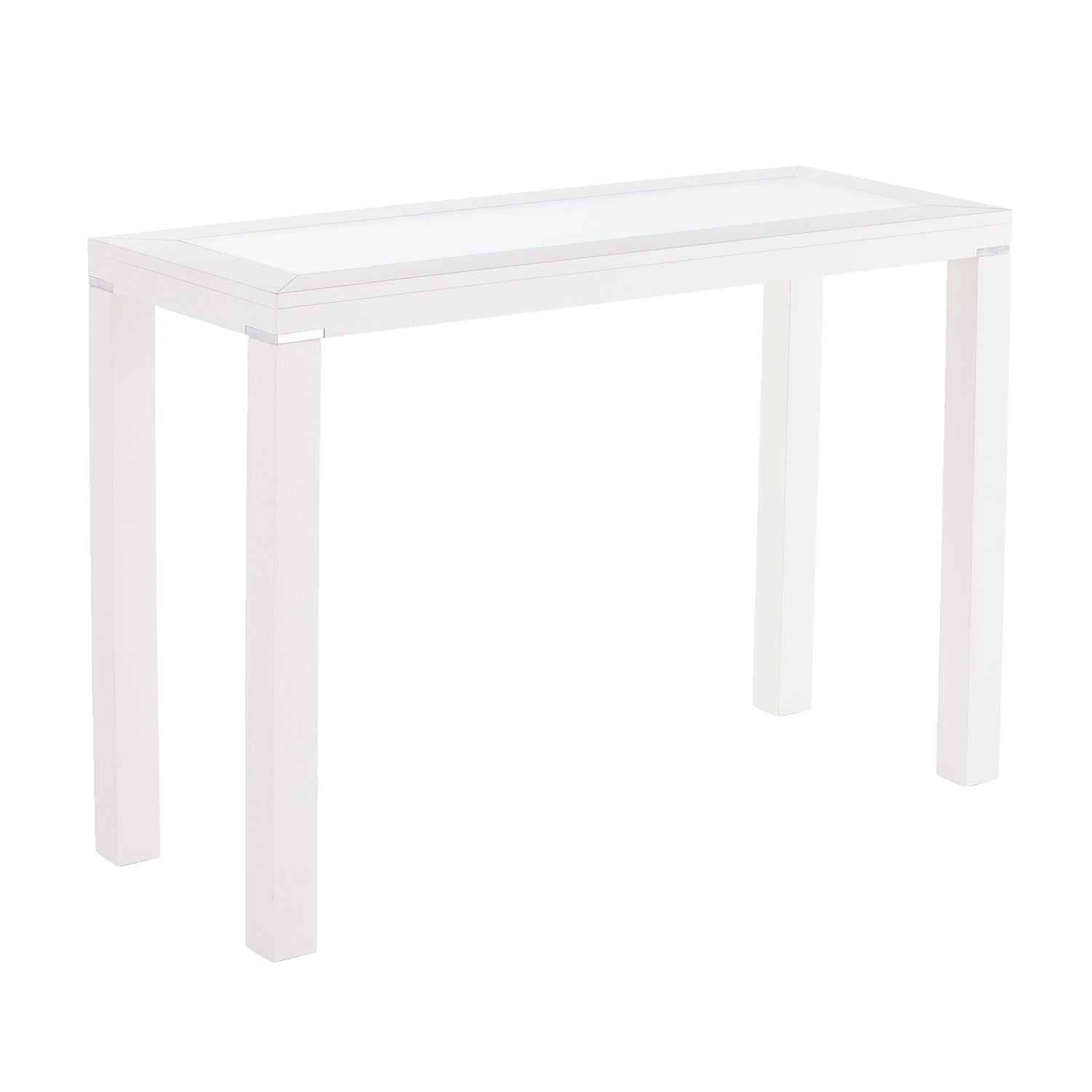 Den Lapham White Parsons Console Table