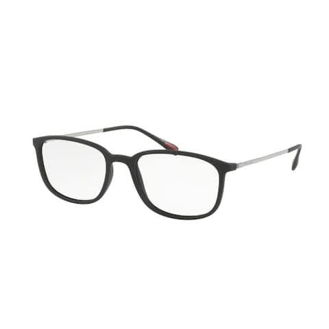 Prada Linea Rossa PS03HV Men Black Rubber Eyeglasses