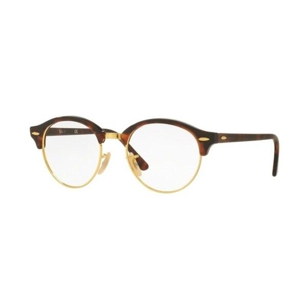 b8790f9a211 Shop Ray-Ban Clubround RX4246V Unisex Red Havana Eyeglasses - Free ...