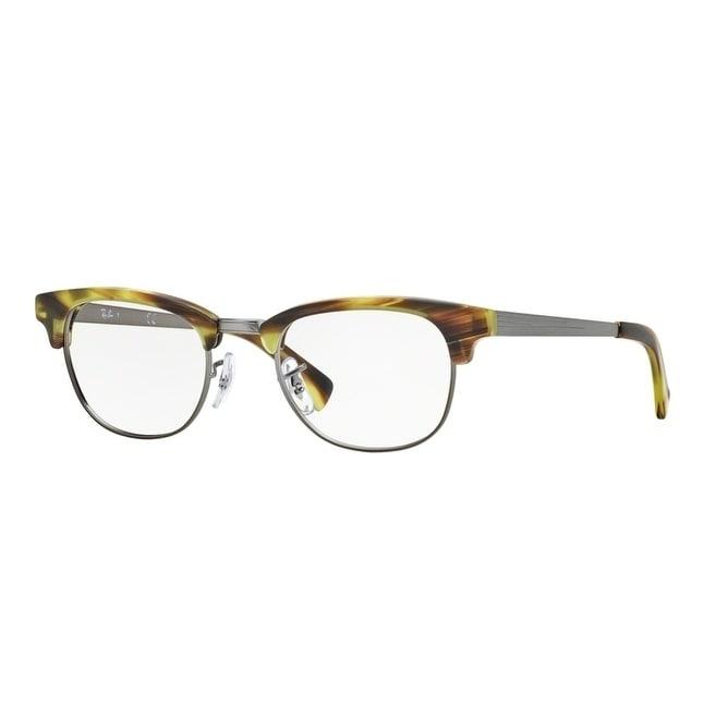 efd422a7b0 Shop Ray-Ban Clubmaster RX5294 Unisex Green Tortoise Gunmetal Eyeglasses -  green tortoise gunmetal - Free Shipping Today - Overstock - 23566085