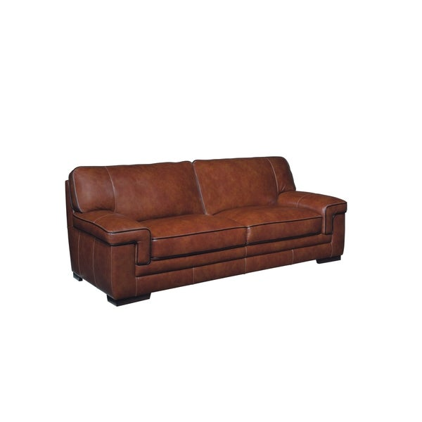Simon Li Bellevue Top Grain Leather Sofa