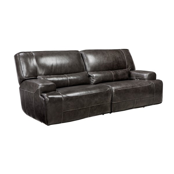 Superieur Simon Li Arnstein Top Grain Leather Power Reclining Sofa