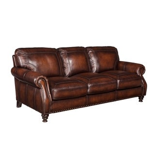 Marvelous Simon Li Genoa Brown Top Grain Leather Sofa Overstock Com Shopping The Best Deals On Sofas Couches Gmtry Best Dining Table And Chair Ideas Images Gmtryco