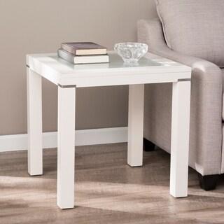 Porch & Den Lapham White Parsons End Table
