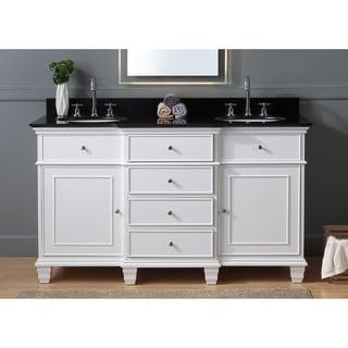 "60"" Benton Collection Conduit Double Sink Bathroom Vanity"