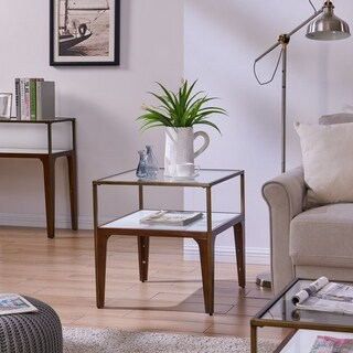 Harper Blvd Alterra Metal and Glass End Table