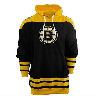 Majestic Men's Boston Bruins Double Fleece Hoodie - Black
