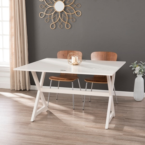 shop harper blvd mara convertible console to dining table white free shipping today. Black Bedroom Furniture Sets. Home Design Ideas
