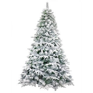 ALEKO Deluxe Artificial Christmas Holiday Snow Dusted Tree 5 foot