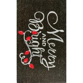18 x 30 Merry & Bright Coir Doormat