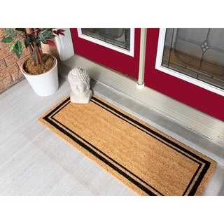 18 x 56 Border Extra Large Coir Double Doormat