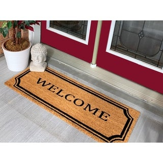 18 x 56 Welcome Border Extra Large Coir Double Doormat